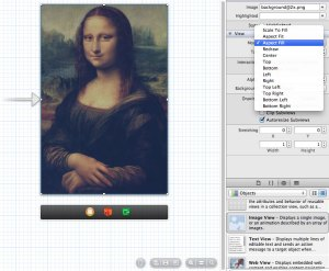 """The mode setting that makes it work. By default it's set to """"Scale to Fill"""", change it to """"Aspect Fill"""" and it will keep the width full but center and crop the image."""