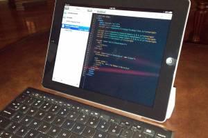 iPad and Bluetooth keyboard