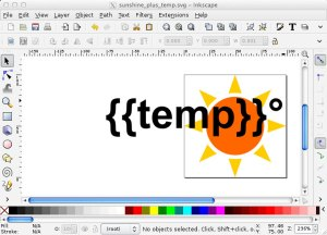 Inkscape editing modified SVG icon