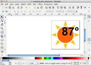 Inkscape editing SVG icon